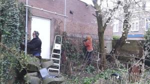 2015-03-28 Werkdag weghalen raamwerk klimop